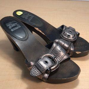 Burberry Leather Mule Heels